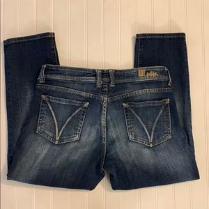KUT from the Kloth Crop Blue Jeans